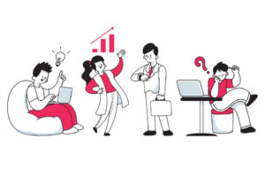 大企業社員の特徴は異なる